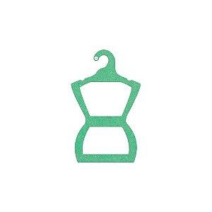 Cabide Silhueta Juvenil - Color Face - Verde Claro -  CS108