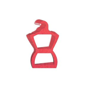 Cabide Silhueta Juvenil - Color Face - Vermelho -  CS108