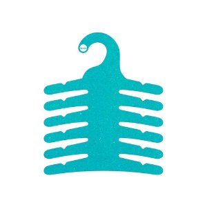 Cabide Infantil Multifuncional 6 Ganchos -Color Face - Azul Ciano - CS115