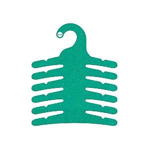 Cabide Infantil Multifuncional 6 Ganchos -Color Face - Verde - CS115
