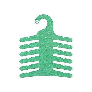 Cabide Infantil Multifuncional 6 Ganchos -Color Face - Verde Claro - CS115