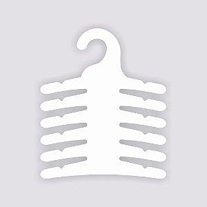 Cabide Infantil Multifuncional 6 Ganchos - Capa Branca - CS115