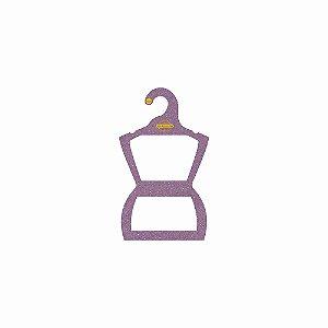 Cabide Personalizado com sua logo - Silhueta Bebê - Color Face - Lilás CS106