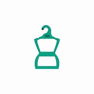 Cabide Personalizado com sua logo - Silhueta Bebê - Color Face - Verde-  CS106