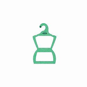 Cabide Personalizado com sua logo - Silhueta Bebê - Color Face - Verde Claro -  CS106