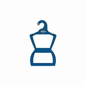 Cabide Personalizado com sua logo - Silhueta Infantil -Color Face - Azul Royal -  CS107