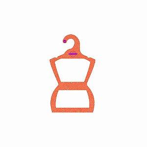 Cabide Personalizado com sua logo - Silhueta Infantil -Color Face - Laranja -  CS107