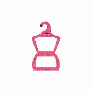 Cabide Personalizado com sua logo - Silhueta Infantil -Color Face - Rosa -  CS107