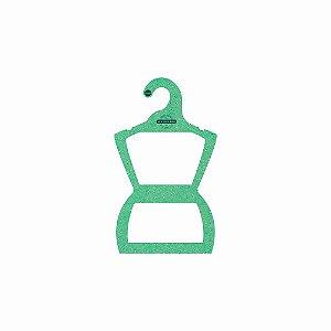 Cabide Personalizado com sua logo - Silhueta Infantil -Color Face - Verde Claro -  CS107