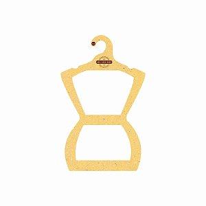 Cabide Personalizado com sua logo - Silhueta Juvenil - Color Face - Amarelo -  CS108