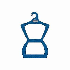 Cabide Personalizado com sua logo - Silhueta Juvenil - Color Face - Azul Royal-  CS108