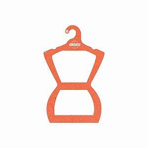 Cabide Personalizado com sua logo - Silhueta Juvenil - Color Face - Laranja-  CS108