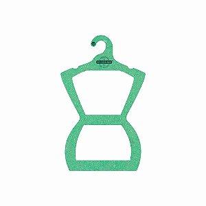 Cabide Personalizado com sua logo - Silhueta Juvenil - Color Face - Verde Claro -  CS108