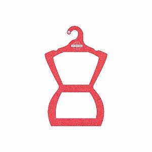 Cabide Personalizado com sua logo - Silhueta Juvenil - Color Face - Vermelho -  CS108