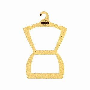 Cabide Personalizado com sua logo - Silhueta Adulto - Color Face - Amarelo - CS109