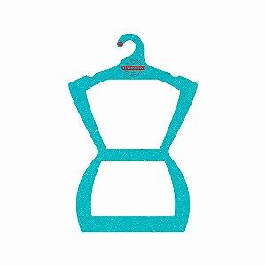 Cabide Personalizado com sua logo - Silhueta Adulto - Color Face - Azul Ciano- CS109