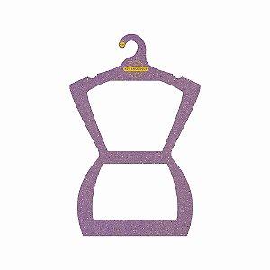 Cabide Personalizado com sua logo - Silhueta Adulto - Color Face - Lilás - CS109