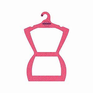 Cabide Personalizado com sua logo - Silhueta Adulto - Color Face - Rosa - CS109