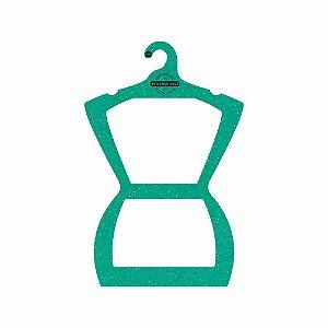 Cabide Personalizado com sua logo - Silhueta Adulto - Color Face - Verde - CS109