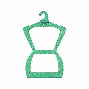 Cabide Personalizado com sua logo - Silhueta Adulto - Color Face - Verde Claro - CS109