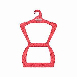 Cabide Personalizado com sua logo - Silhueta Adulto - Color Face - Vermelho - CS109