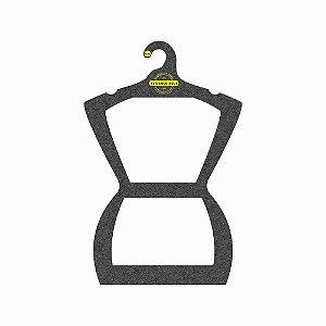 Cabide Personalizado com sua logo - Silhueta Adulto - Color Face - Preto H - CS109