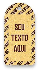 Tag  Personalizada - Etiqueta para Roupas com sua marca- Color Face - Amarelo - CS300