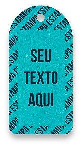 Tag  Personalizada - Etiqueta para Roupas com sua marca- Color Face - Azul Ciano - CS300