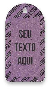 Tag  Personalizada - Etiqueta para Roupas com sua marca- Color Face - Lilás - CS300