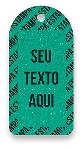 Tag  Personalizada - Etiqueta para Roupas com sua marca- Color Face - Verde - CS300