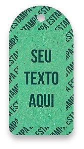 Tag  Personalizada - Etiqueta para Roupas com sua marca- Color Face - Verde Claro - CS300