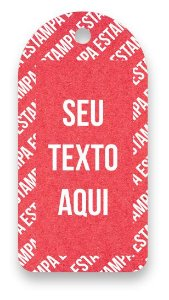 Tag  Personalizada - Etiqueta para Roupas com sua marca- Color Face - Vermelho - CS300