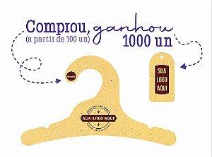 Promoção Comprou Ganhou: Cabide Personalizado com sua logo /  Infantil / Color Face / CS100 Ganhe a Tag Color Face 1000 unidades personalizado
