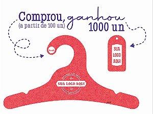 Promoção Comprou Ganhou: Cabide Personalizado com sua logo / Juvenil / Color Face / CS102 Ganhe a Tag Color Face 1000 unidades personalizado
