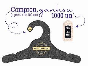 Promoção Comprou Ganhou: Cabide Personalizado com sua logo / Juvenil / Preto H / CS102 Ganhe a Tag Natural 1000 unidades personalizado