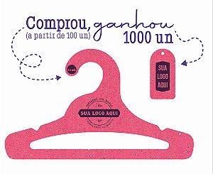 Promoção Comprou Ganhou: Cabide Personalizado com sua logo / Juvenil Aberto / Color Face / CS103 -  Ganhe a Tag Color Face 1000 unidades personalizado
