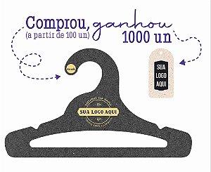 Promoção Comprou Ganhou: Cabide Personalizado com sua logo / Juvenil Aberto / Preto H / CS103 -  Ganhe a Tag Natural 1000 unidades personalizado