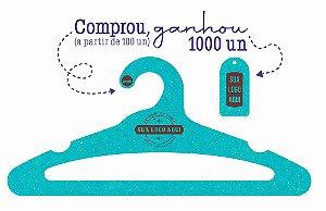 Promoção Comprou Ganhou:  Cabide Personalizado com sua logo / Adulto Aberto / Color Face / CS105 - Ganhe a Tag Color Face 1000 unidades personalizado