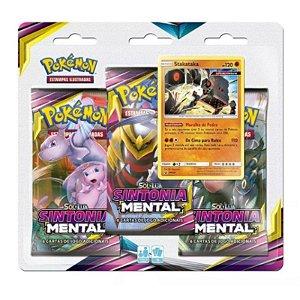 "Pokémon Sol e Lua Edição 11: Triple Pack Sintonia Mental ""Stakataka"""