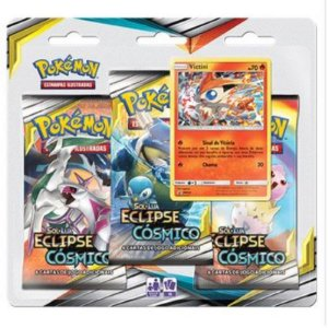 "Pokémon Sol e Lua Edição 12 - Triple Pack Eclipse Cósmico ""Victini"""