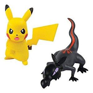 Pokémon - 2 mini figuras - Salandit e Pikachu