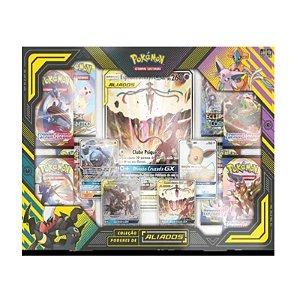 Box Pokémon Coleção Poderes de Aliados Espeon e Deoxys  Gx