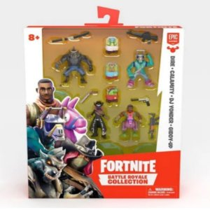 Fortnite Mini Figuras Dire, Calamity e DJ Yonder, Giddy-Up