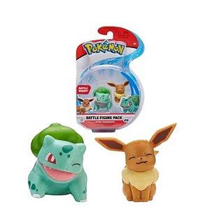 Pokémon - 2 Mini Figura - Eevee e Bulbasaur