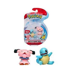 Pokémon - 2 Mini Figura - Snubbull e Squirtle