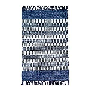 Tapete Mallani 100% Algodão Azul 60cmx90cm