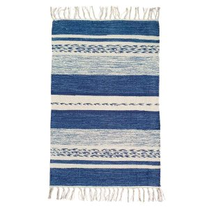 Tapete Raipur 100% Algodão Azul 1mx140cm