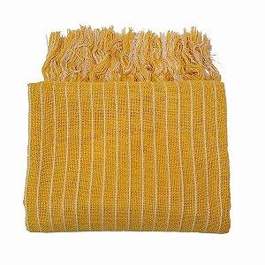 Manta Living 100% Algodão Amarela 1.20mx1.80m