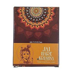 Incenso Cone Goloka Jai Hare Krishna