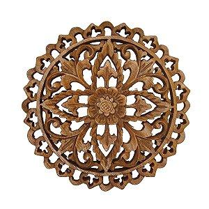 Mandala Flor de Madeira Suar 20cm (Modelo 2)